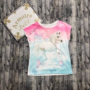 Girls Unicorn Top NWT